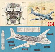 AVIATION CIVILE : DÉPLIANT PUBLICITAIRE : SABENA - AVION DOUGLAS DC 4 : OO-CBD ( YEAR ~ 1946 - 1961) - RARE !!! (v-290) - 1946-....: Moderne