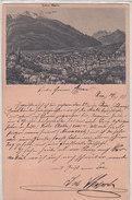 Chur - Vorläufer-Litho - Originalstich - 1891 - Selten        (P12-30916) - GR Grisons