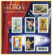 France 2008 BF 121 LE CIRQUE À TRAVERS LE TEMPS - Neufs