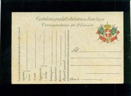 CARTOLINA POSTALE IN FRANCHIGIA- CAT. CERRUTO COLLA N. 135/Bg - NUOVA - Guerra 1914-18
