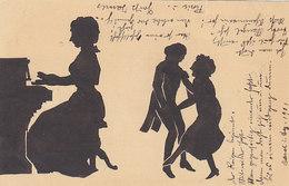 Schattenbilder Auf Ganzachenkarte - 1901 - Nicht Häufig        (P12-30916) - Scherenschnitt - Silhouette