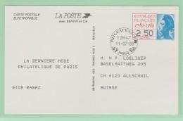 Fr6. Entier Postal  Du Bicentenaire 2.50  11.07.89 Paris Philexfrance 89  Pour La Suisse - Entiers Postaux