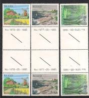 Aland Åland 1985  Rocks, Outer Archipelago Mi 11-13, MNH(**) Gutter Pair - Aland