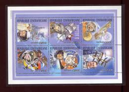 Centrafricaine  , 2002 , Space, Sojus, Apollo - Espacio