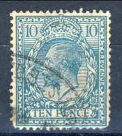UK Giorgio V 1912-22 N. 151 P. 10 Azzurro-verde Usati Catalogo € 30 - Unclassified