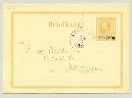 Suriname - 189? - 7,5 Cent Opdruk Op 12,5 Cent Briefkaart, G5a Van Paramaribo Naar Amsterdam - Suriname ... - 1975