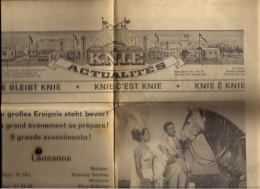 SVIZZERA - CIRCO NAZIONALE SVIZZERO KNIE - 1966 - Advertising