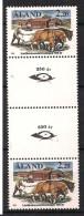 Aland 1988 Argiculture - Horses Plowing Mi  27, MNH(**) Gutter Pair - Aland