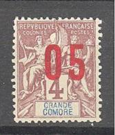 Grande Comore: Yvert 21Ax - Grande Comore (1897-1912)