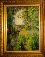 """Peinture Huile Sur Panneau De Marie Ernestine Cabart """" Les Pêcheurs """" - Huiles"""