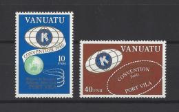 """VANUATU . YT  613/614  Neuf **  Convention Du """"Kiwanis International"""" De La Région De Nouvelle-Zélande à Port-Vila 1980 - Vanuatu (1980-...)"""