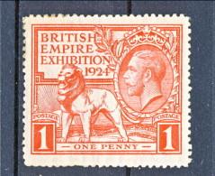 UK Giorgio V 1924 Expo Wembley, Serie 171.172 - 1 Penny Rosso  MNH GO Catalogo € 5 - 1902-1951 (Könige)