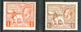 UK Giorgio V 1925 Expo Wembley, Serie 173-174 - 1 Penny Rosso  **Catalogo € 140 - 1902-1951 (Re)
