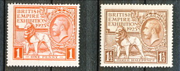 UK Giorgio V 1925 Expo Wembley, Serie 173-174 - 1 Penny Rosso  **Catalogo € 140 - 1902-1951 (Könige)