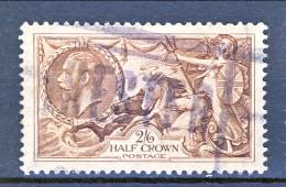 UK Giorgio V 1934 N. 198 S. 2,6 Bruno Seppia Fondo A Linee Incrociate Usato Catalogo € 10 - Unclassified