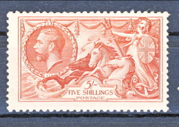 UK Giorgio V 1934 N. 199 S. 5 Rosso Fondo A Linee Incrociate MNH GO Gomma Originale Integra Catalogo € 200 - 1902-1951 (Könige)