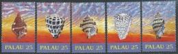Palau   1989   Sc#212-6  Seashells Set  MNH**  2016 Scott Value $2.75 - Palau