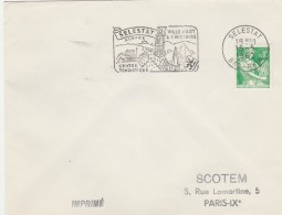 Yvert 1231 Sur Lettre Cachet Flamme SCOTEM : SELESTAT Bas Rhin 15/5/1962 - Storia Postale
