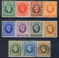 UK Giorgio V 1934-36 Serie N. 187-197 Mista MNH, MH E Usati Catalogo € 75 - 1902-1951 (Re)