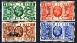 UK Giorgio V 1934-36 Serie N. 201-204 Giubileo Del Re. Usati Catalogo € 10 - 1902-1951 (Könige)