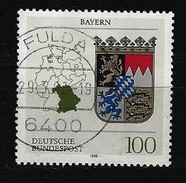 BUND Mi-Nr. 1587 Wappen Bayern Gestempelt Fulda - Usados