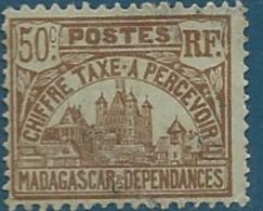 Madagascar   - Taxe  - Yvert N°   14  Oblitéré   - Ava 15116 - Madagaskar (1889-1960)