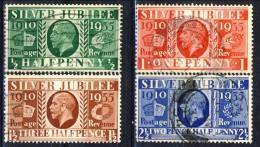 UK Giorgio V 1934-36 Serie N. 201-204 Giubileo Del Re. Usati Catalogo € 10 - 1902-1951 (Re)