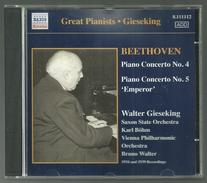 CD PIANO - BEETHOVEN : CONCERTOS N° 4 & 5 - WALTER GIESEKING, Piano - Klassik