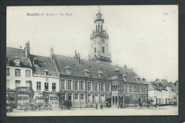 62 HESDIN ( PAS- DE- CALAIS)..ANIMEE..LA PLACE..LA MAIRIE..HÔTEL GALLET...C1932 - Hesdin
