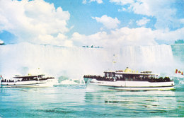 COLOUR PICTURE POST CARD PRINTED IN U.S.A., AMERICA - MAID OF THE MIST - TOURISM, SHIP THEME - Postcards