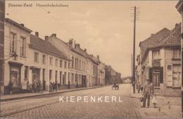 DEURNE ZUID HERENTHALSCHE BAAN JAREN 40 HERENTALSE BAAN - KAR ATTELAGE / RECHTS OP DE HOEK: IN DE SPORT VELOMAKER - Antwerpen