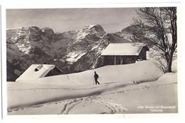 BRAUNWALD: Winterlandschaft Mit Skiläufer 1937 - GL Glaris