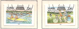 Aland Åland 1991 Norden: Tourism, Vacation By Canoe And Bicycle, Mi 51-52, Cancelled(o) - Aland