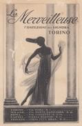"8341-CARTOLINA PUBBLICITARIA ""LA MERVEILLEUSE"" CONFEZIONI PER SIGNORA-TORINO-1920-FP - Publicidad"