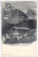 Belebte Alphütte Mit Mittel- Und Ruchglärnisch ~1900 - GL Glaris