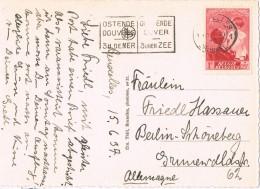 20097. Postal BRUXELLES (belgien) 1957. Slogan Oostende Douvres - Cartas