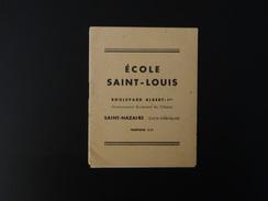 PLAQUETTE ECOLE SAINT-LOUIS A SAINT-NAZAIRE (44) 1938 - 1950 - ...