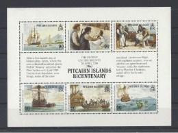"""PITCAIRN . YT  323/328 Neuf **  Bicentenaire De La Colonisation Des Iles Pitcairn Et De La Mutinerie Du """"Bounty""""  1989 - Stamps"""