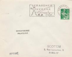 Yvert 1231 Sur Lettre Cachet Flamme SCOTEM : GERARDMER Vosges 14/10/1961 - Postmark Collection (Covers)