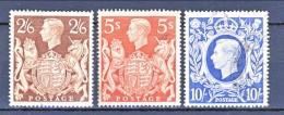 UK Giorgio VI 1939 Effige Serie N. 224-226 Usati Eccezionale Freschezza Cat. € 50 - 1902-1951 (Re)