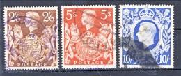 UK Giorgio VI 1939 Effige Serie N. 224-226 Usati Cat. € 50 - 1902-1951 (Könige)