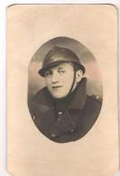 Photo Originale De Soldat Avec Casque (armée Belge) - Guerre, Militaire