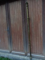 Tringle A Rideau Ancienne Bronze Ou Laiton 1.90 M Embouts Compris Avec Mecanisme - Popular Art