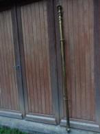 Tringle A Rideau Ancienne Bronze Ou Laiton 1.90 M Embouts Compris Avec Mecanisme - Art Populaire