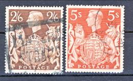 UK Giorgio VI 1939 Effige N. 224 S. 2,6 Bruno E N. 225 S. 5 Rosso Cat. € 16.50 - 1902-1951 (Re)