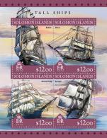 Tall Ships SOLOMON ISLANDS 2016 (FREE SHIPPING) - Solomon Islands (1978-...)