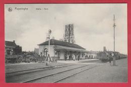 Poperinge - Statie ... Trein - 1914  ( Verso Zien )