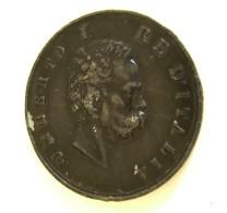 1890 UMBERTO I RE D'ITALIA    MOSTRA DEL LAVORO   GRANDE MODULO  MEDAGLIA BIG MEDAL Ø 45 Mm - Professionali/Di Società