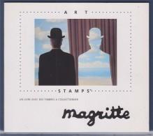 """= Magritte Livret Textes Et 21 Vignettes Gommées Neuves Différentes (37 Au Total) Sur 32 Pages """"stamps"""" - Erinnofilia"""