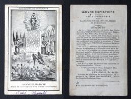 CANIVET IMAGE PIEUSE Fin 19e Début 20e Siècle : Oeuvre Expiatoire - Religion & Esotericism